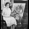 Portrait with paintings, Los Angeles, CA, 1935