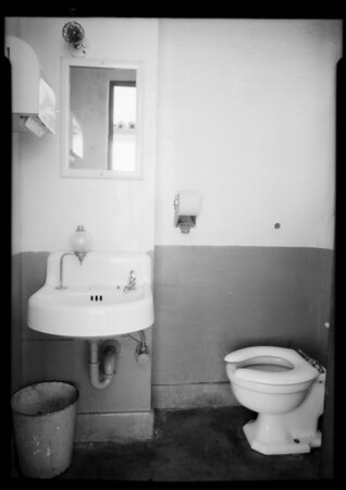 Right and wrong way of service, etc., and rest rooms, Southern California, 1935