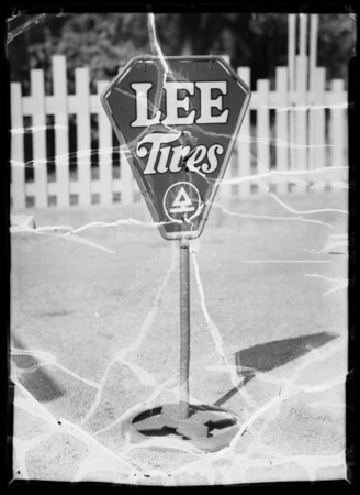 Signs at different oil stations, Southern California, 1935