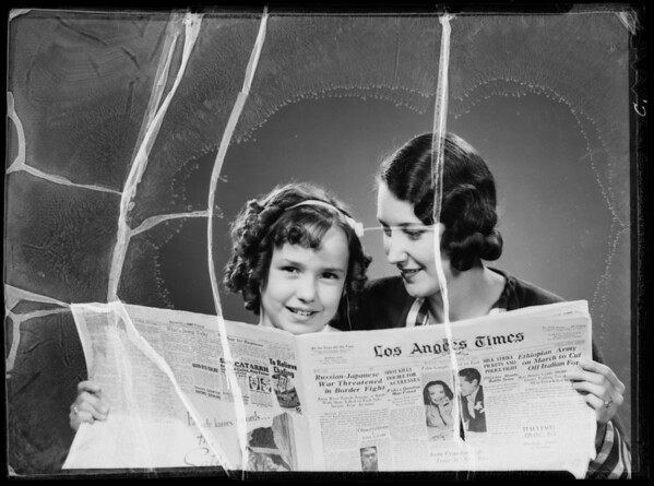 """We're housemakers, we read the Times women's page"", Los Angeles Times, Southern California, 1935"
