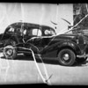 Wrecked 1935 Oldsmobile sedan, A. J. Floyd owner and assured, Los Angeles, CA, 1936