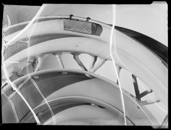 Wheel counter-balance, Southern California, 1935