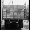 Rear of truck, Y. Ota, owner & assured, Southern California, 1935