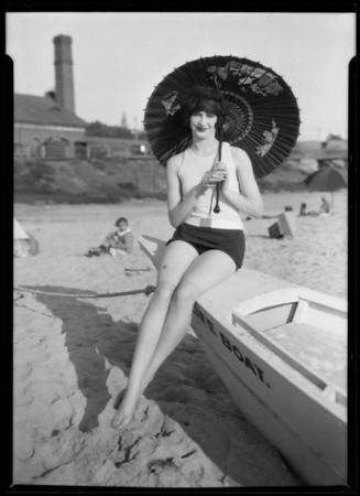 Del Mar, model Dorothy Sinclair, Del Mar, CA, 1926