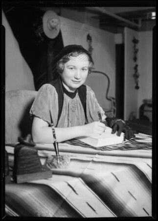 Author Bertita Leonarz de Harding, Southern California, 1935