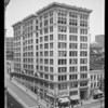 Black building, Broadway and West 4th Street, Los Angeles, CA, 1940