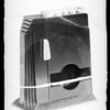 Card shuffling device, Southern California, 1935