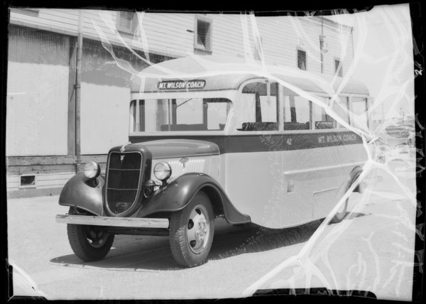 Mt. Wilson Coach, Southern California, 1935