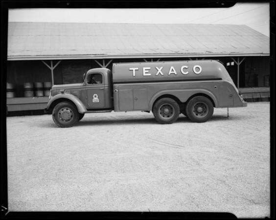 Texaco truck at Wilmington Sales Yard, 1420 Alameda Street, Wilmington, CA