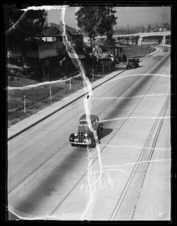 Cars for composite of Columbia River Highway, Southern California, 1936