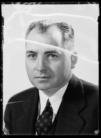Portrait of Mr. Bays for Swift book Chicago, Southern California, 1936