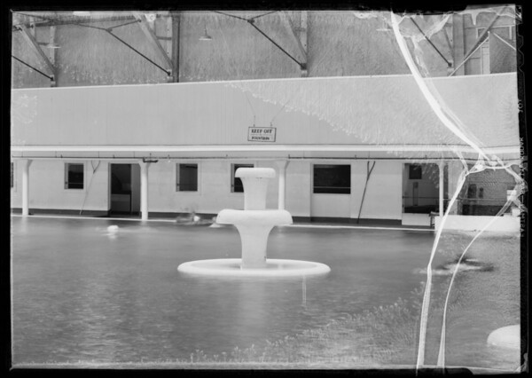 Fountain in Venice Plunge, Southern California, 1935