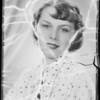 Contest girl, Southern California, 1935