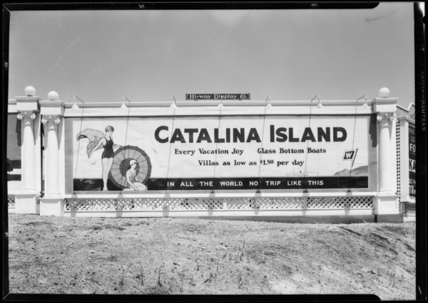 Highway display signs, Southern California, 1927