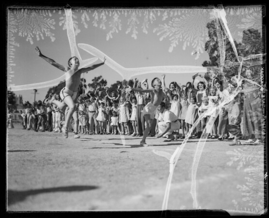 School children, Southern California, 1935