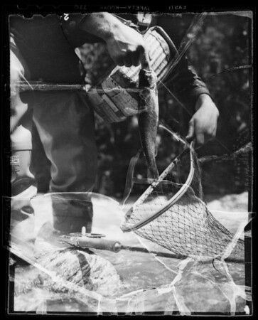 Front fishing, Southern California, 1936