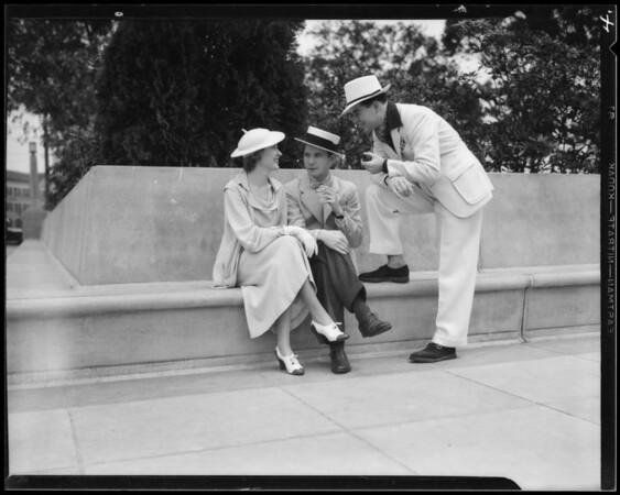 Straw hats & action shots, Southern California, 1935