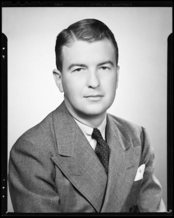 Portrait, Bob Shirey, Southern California, 1940