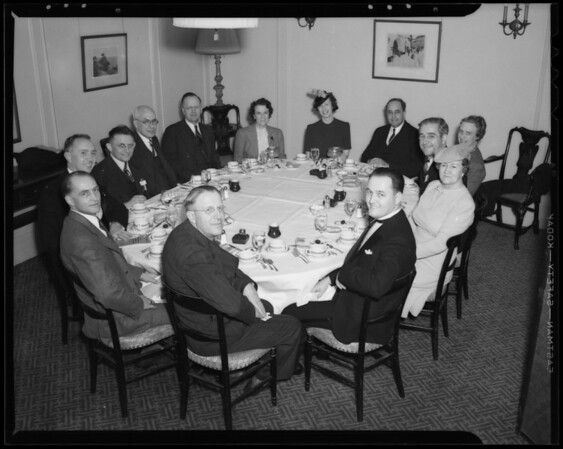 Executive meeting conference, Southern California, 1940