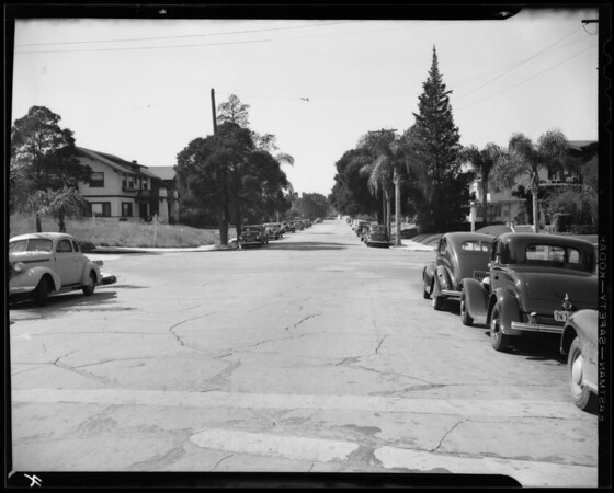 Intersection of South Saint Andrews Place and Ingraham Street, Los Angeles, CA, 1940