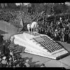 Will Rogers float in Rose Parade, Pasadena, CA, 1936
