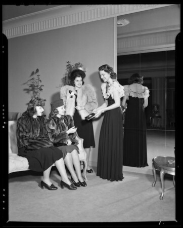 Sorority at Saks store, Southern California, 1940