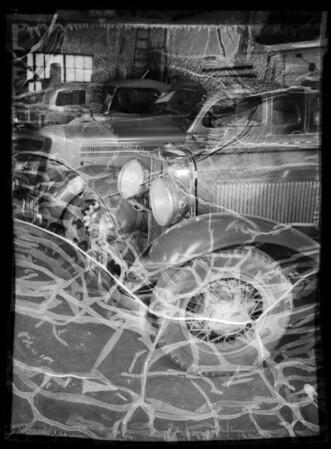 Studebaker sedan, Fred Allen, assured, Southern California, 1935