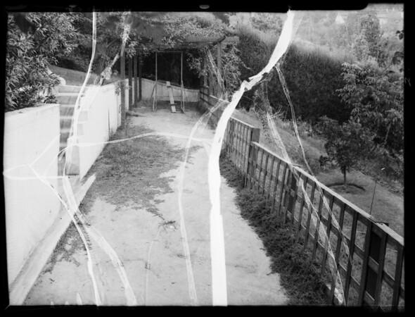 Showing condition of garden, Southern California, 1935