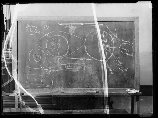 Blackboard in Department 14, Superior Court, Southern California, 1936
