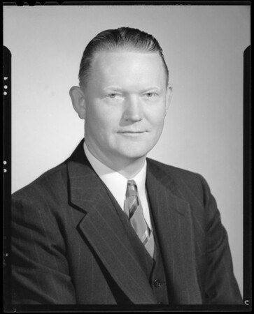Portrait of H. L. Harvill, Southern California, 1940