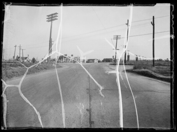 Intersection of South Central Avenue and West Rosecrans Avenue, Compton, CA, 1936