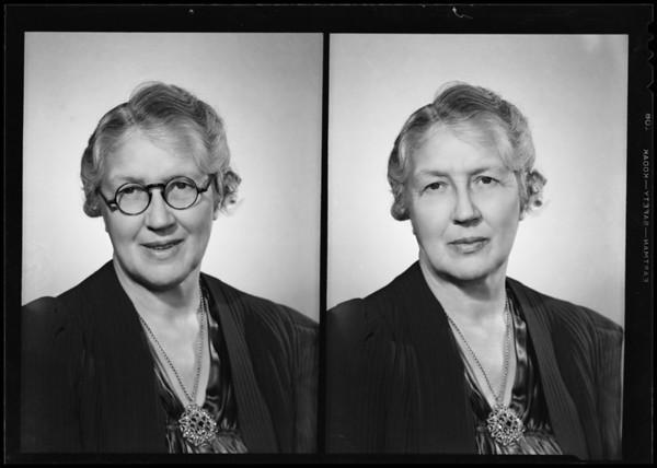 Elsie Bishop, Southern California, 1940