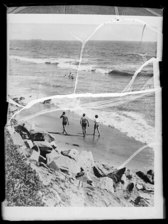 Beach scene, Southern California, 1935