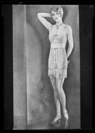 Foundation garments, Southern California, 1936