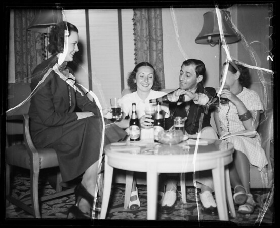 Group at Knickerbocker Hotel, 1714 Ivar Avenue, Los Angeles, CA, 1936