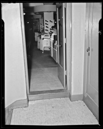 Step in Fifth Street store, Southern California, 1940