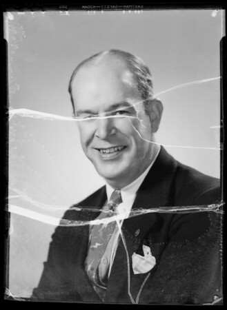 Publicity portrait of Mr. LaMon, Southern California, 1935
