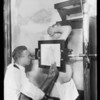 X-ray pictures, Southern California, 1927