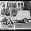 Safety bus for postcards, Southern California, 1935