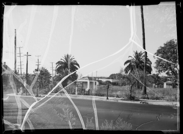 Lot at northeast corner of West Adams Boulevard and Hoover Street, Los Angeles, CA, 1935