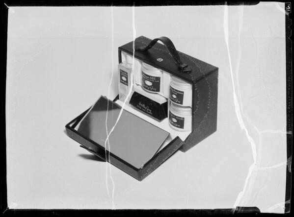 Toilet goods for roto, Bullock's, Southern California, 1935
