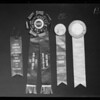 Award ribbons and medals, Southern California, 1940