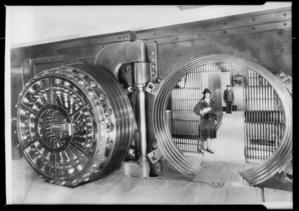 Pacific Southwest Bank vaults, Southern California, 1927