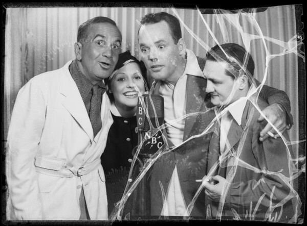 Shell Chateau: Al Jolson, Henry Hull, Miss Taylor, Southern California, 1935