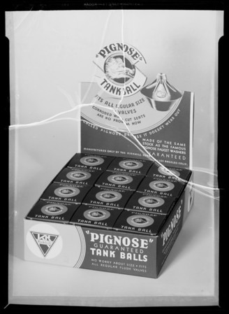 Package of Pignose Tank Balls, Southern California, 1936