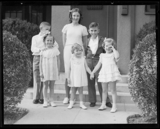 Eleanor's 4th birthday party, Southern California, 1935