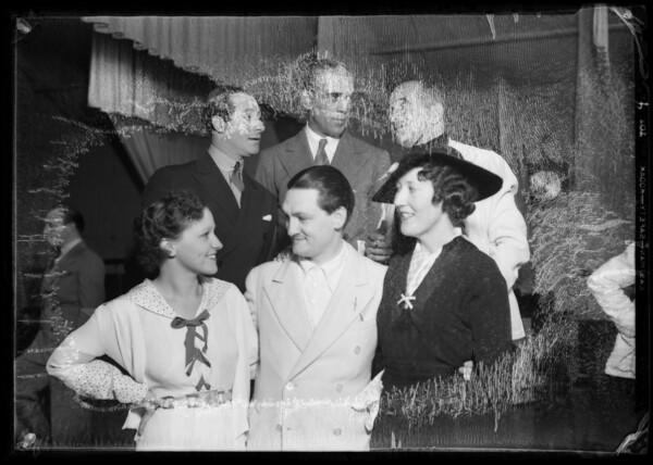 Al Jolson, Victor Young, Boris Karloff, etc. at Shell Chateau, Southern California, 1935