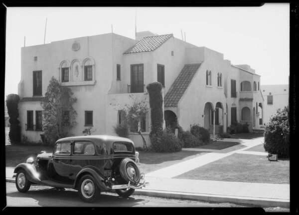 Apartment houses at 413 to 423 1/2 Coronado Terrace and 430 North Coronado Street, Los Angeles, CA, 1935
