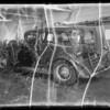 Wrecked Graham-Paige sedan, Southern California, 1935