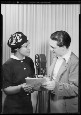 Shell Chateau: Al Jolson, Henry Hull, Miss Taylor, Southern California, 1935